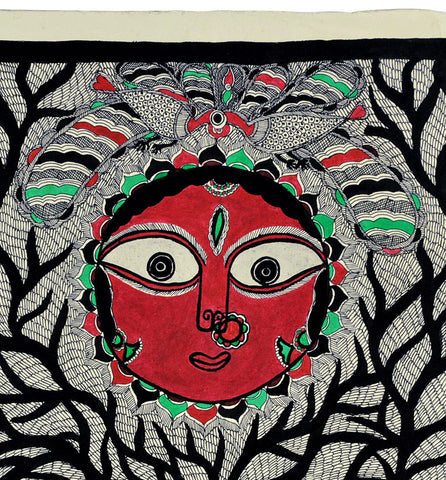 The Mother Nature - Madhubani Painting on Handmade Paper