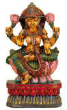 'Goddess of Wealth' Mata Lakshmi - Wood Statue