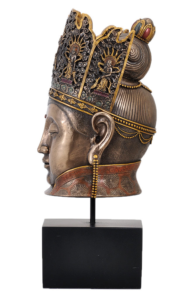 Solid Buddha Head Decorative High Finish Figurine