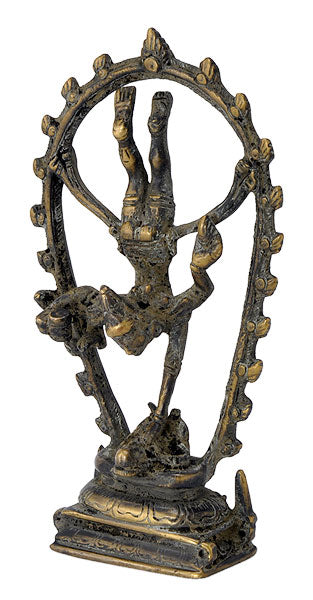Nataraja Shiva as Gymnast Old Look Antiquated Artwork Statue