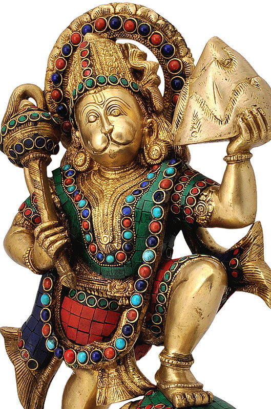 Lord Hanuman Carrying The Mountain of Herbs