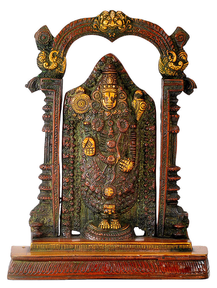 Lord Tirupati Balaji Brass Statue for Home Temple