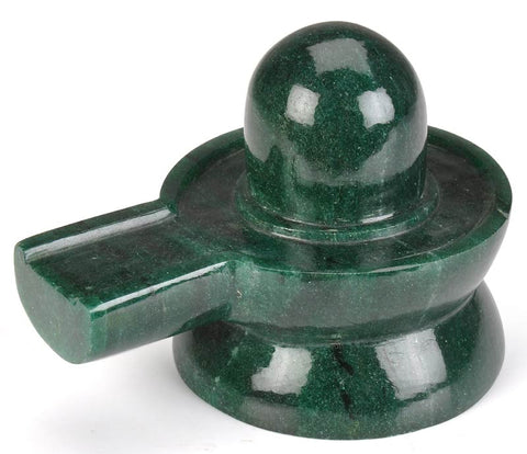 Shivling in Green Aventurine Gemstone