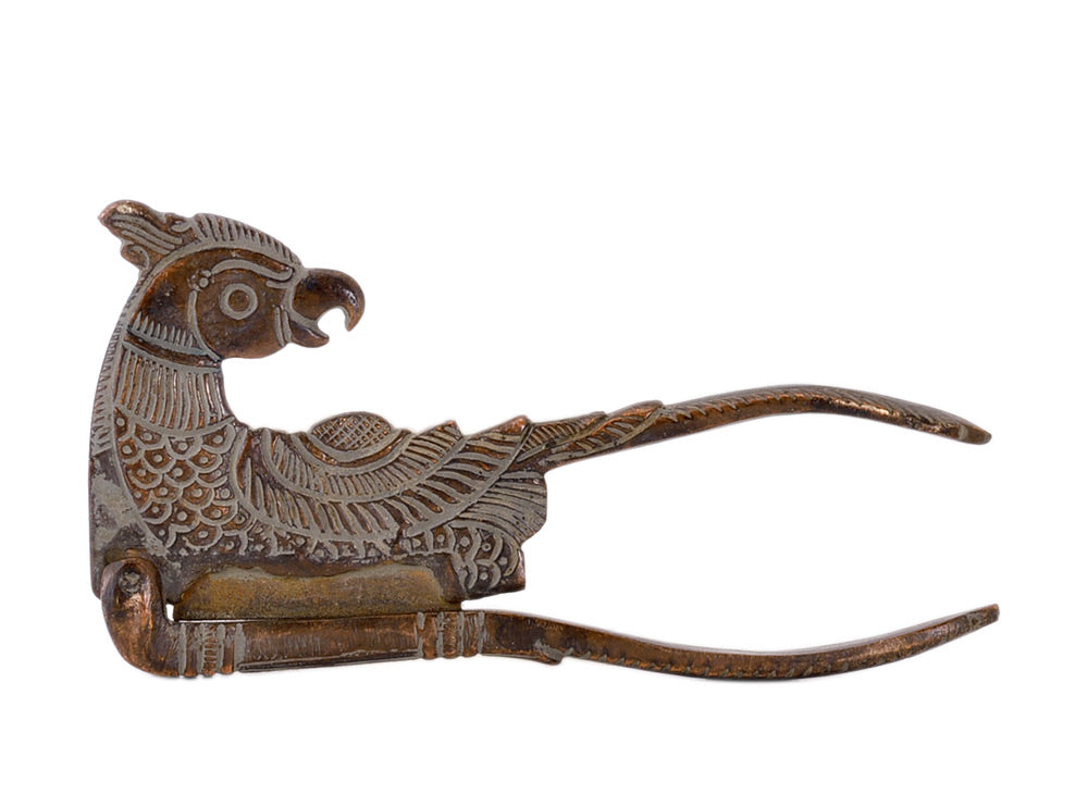 Parrot Betel Nut Cutter in Antique Finish