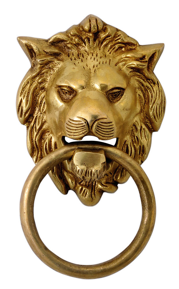 Brass Lion Head Door Knob