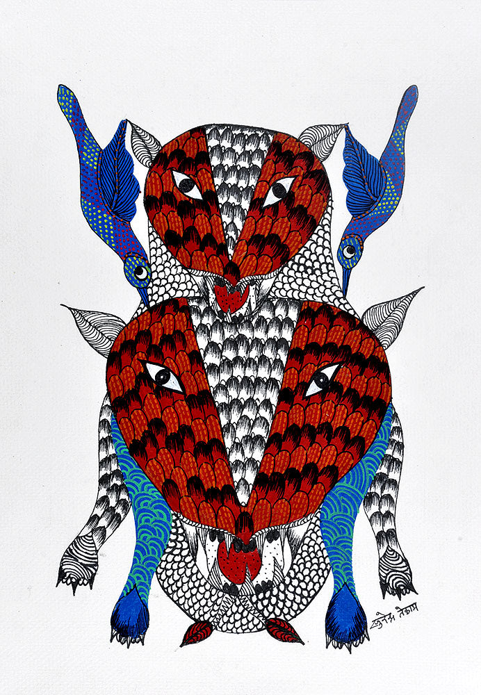 Untitled- Gond Tribal Panting