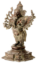 Sixteen Armed Lord Ganesha Antiquated Statue
