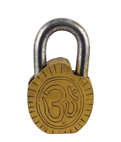 Shri Sai Baba - Decorative Brass Lock