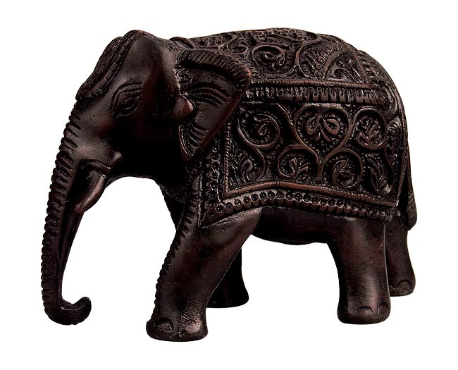 Indian Elephant - Resin Statuette 5.25""