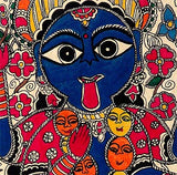 Goddess Kali In Mithila Art