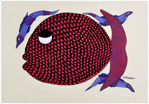 Sea Creatures - Gond Tribal Work