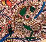 Birds of India - Large Kalamkari Tree Painting