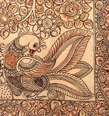 Fantasy Land - Kalamkari Cotton Painting