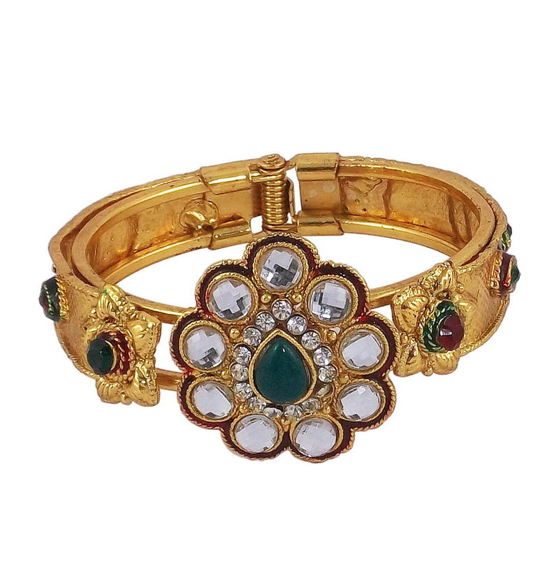 Crystal Charm Gold Plated Bracelet for Girls and Women