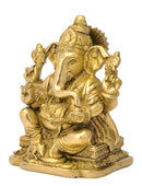 God Ganesh Brass Figure 6""