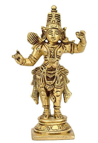 """Lord Ramchandra"" Brass Statue"