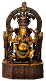Brass Sculpture 'Serene Ganpati'