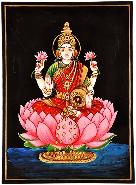 'Goddess Lakshmi' Nirmal Painting