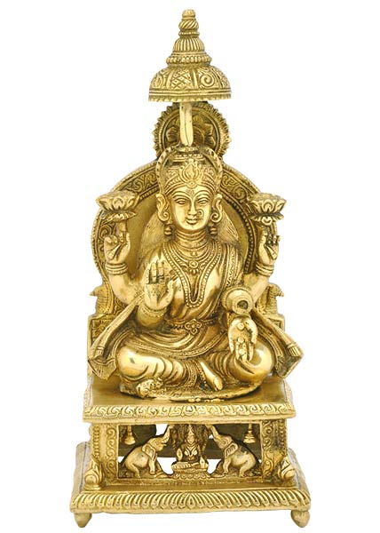 Goddess Lakshmi - Brass Sculpture