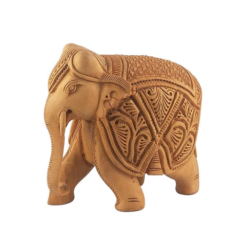 Wooden Carving Royal Elephant Showpiece