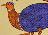 Roosters - Gond Tribal Painting