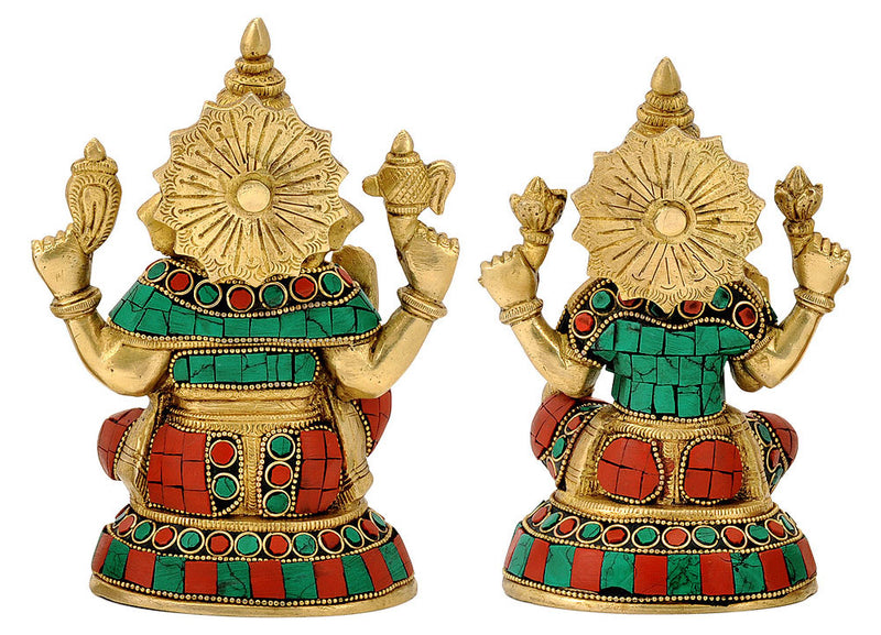 Pair of Lakshmi Ganesh for Home Temple
