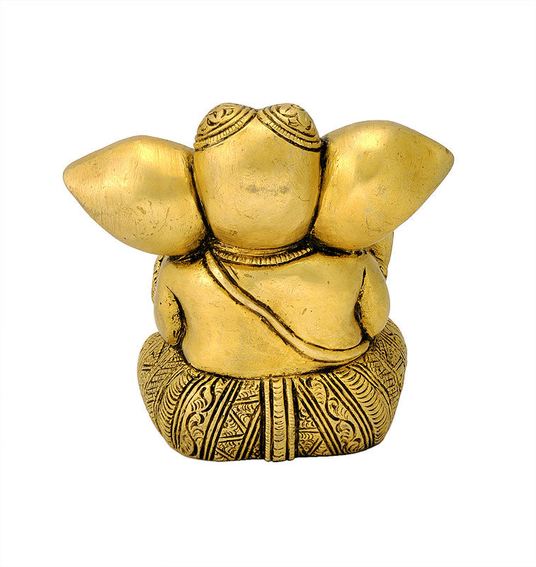 Bal Ganesha Exquisite Brass Sculpture 3.50""
