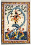 """Kalia Daman"" Ptachitra Silk Painting"