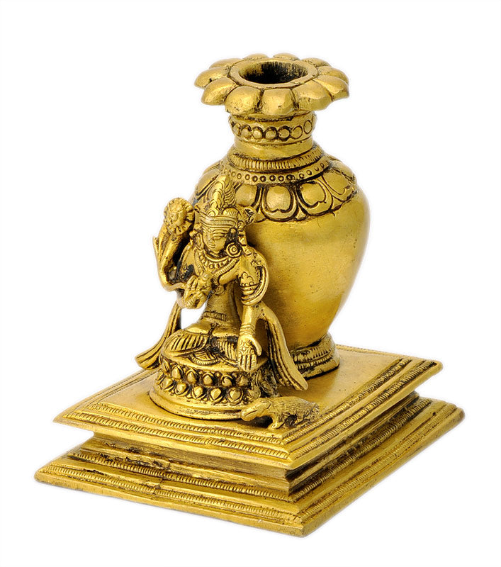 Lord Kuber Figurine with Flower Pot