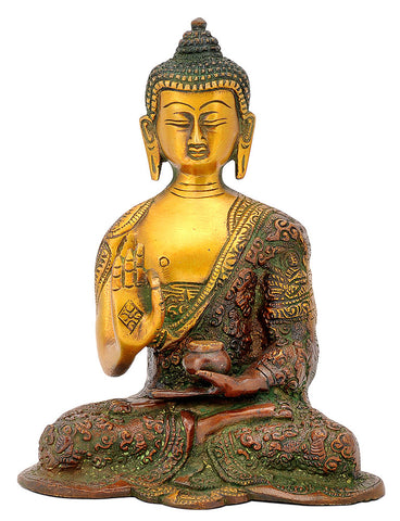 Vitarka Mudra Buddha with Carved Robe