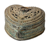 Rust Patina Finish Decorative Box Indian Home decor 6.25""
