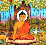 'Buddha' Under The Bodhi Tree - Cotton Batik Painting