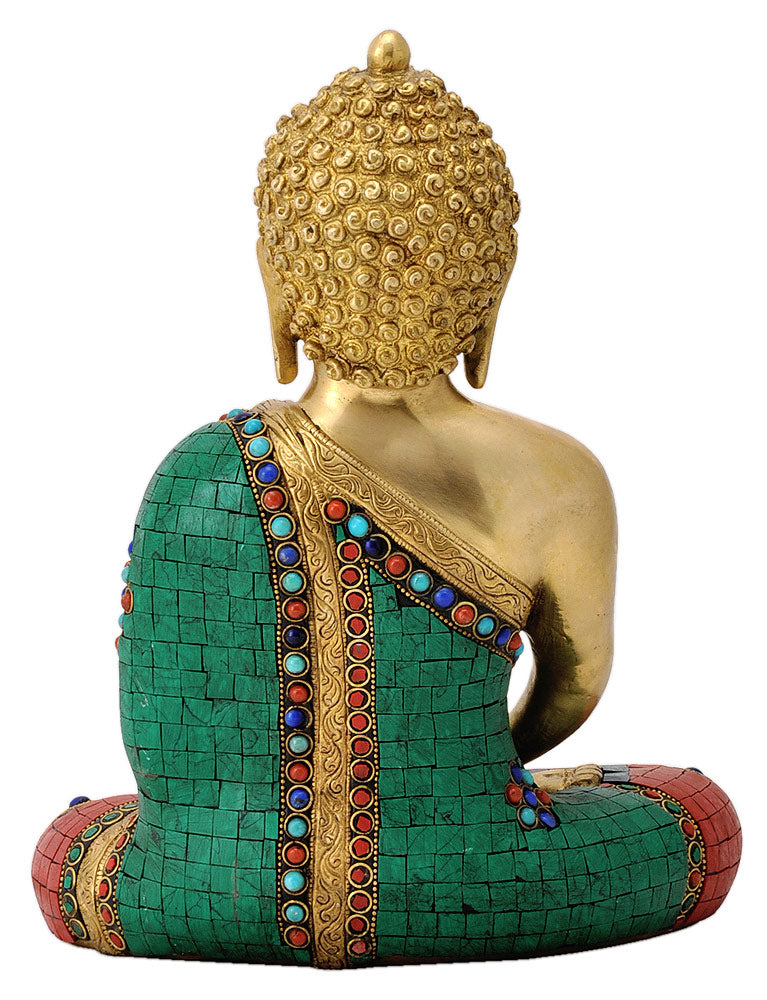Brass Lord Buddha Statue - Meditation Pose