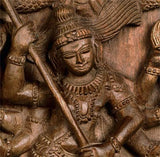 God Protects His Devotees - Wooden Shiva Sculpture
