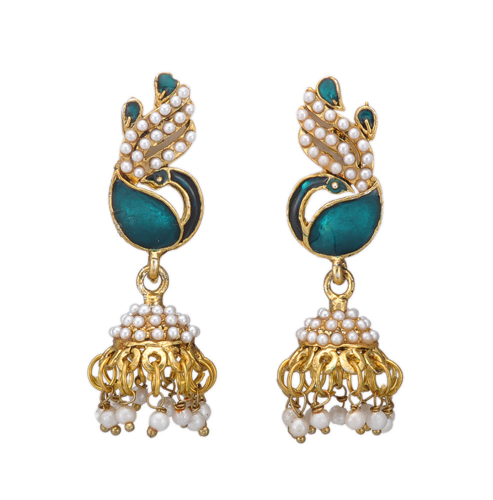 Peacock Design Jhumki Earring