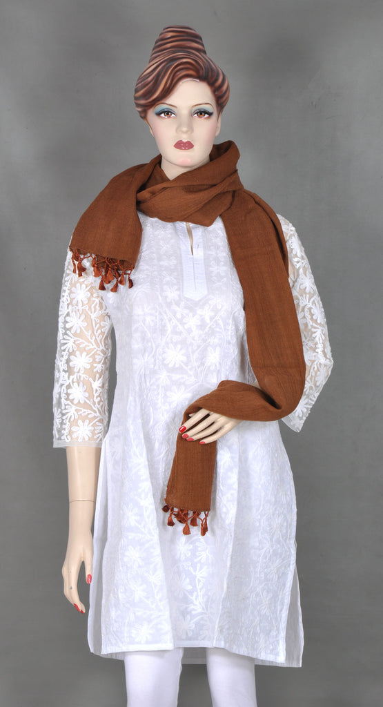 Coffee Brown Wool Stole