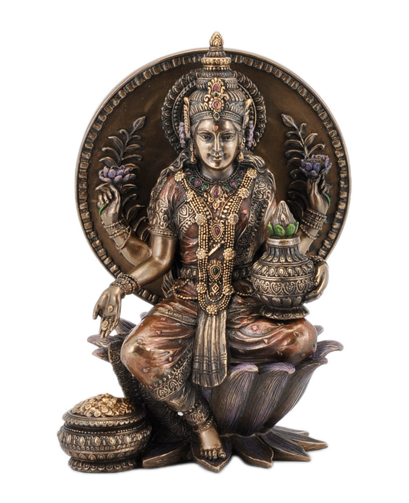 Seated Lakshmi Holding Kalash