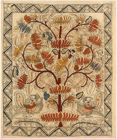 Lotus Tree - Cotton Kalamkari Painting