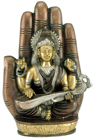 Goddess Saraswati - Brass Sculpture