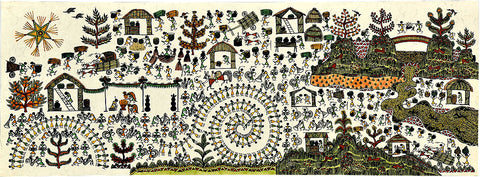 Marriage Procession - Warli Art Painting