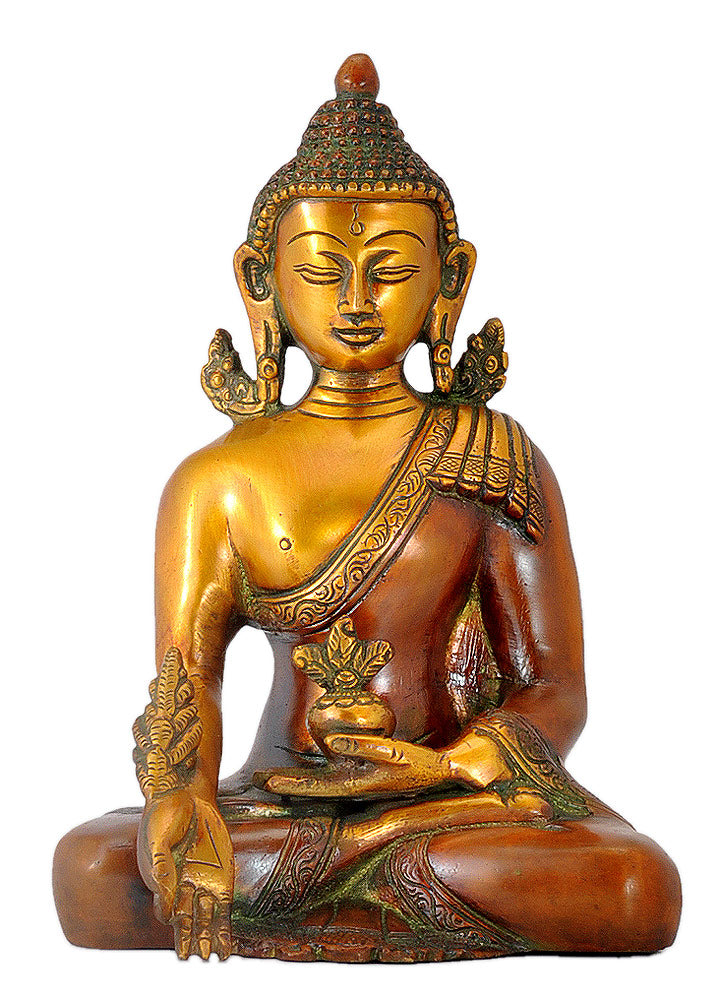Earth Touching Medicine Budha Statue