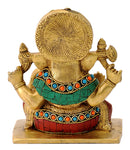 Lord Gajanana Seated Statue