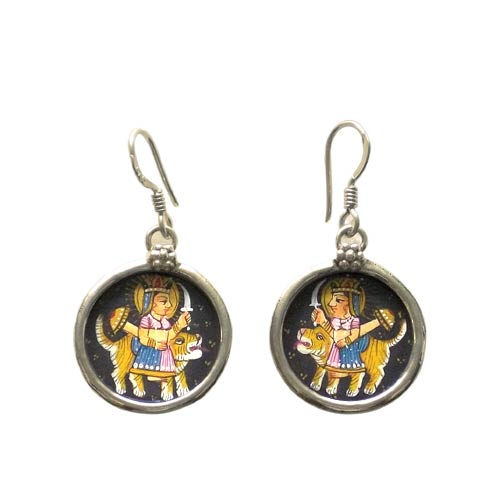 Goddess Durga - Earrings