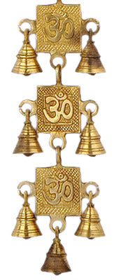Auspicious OM Brass Hanging Belt with Bells