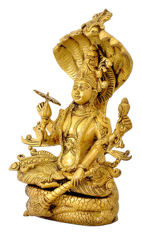 Lord Shri Vishnu Seated on Sheshnaag