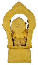 Lord Vinayaka Sculpture with Carved Aureole