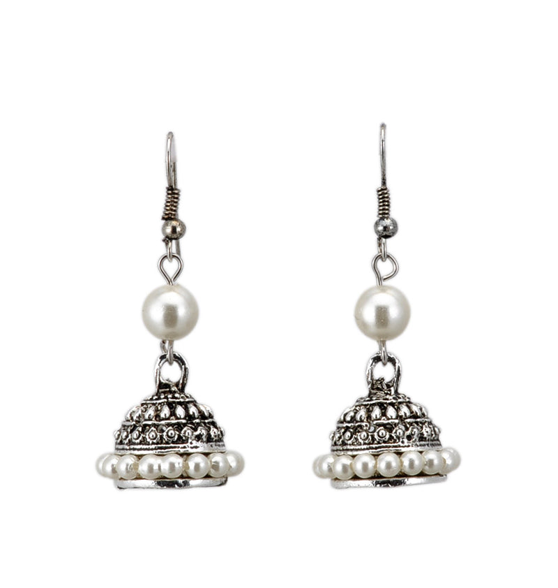 Pearl Beaded Traditional Jhumki for Girl and Woman