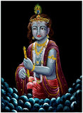 Flowers of Love - Lord Krishna Painting