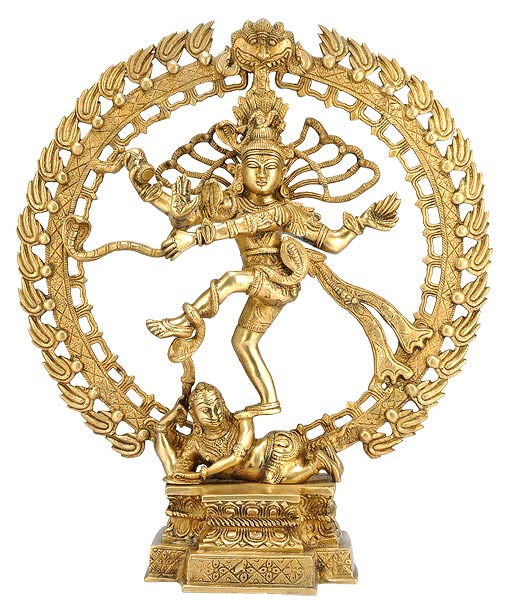"Dancing Shiva ""Lord Nataraja"" - Brass Sculpture"