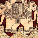 "Kalamkari Painting ""Beautiful Elephants"""